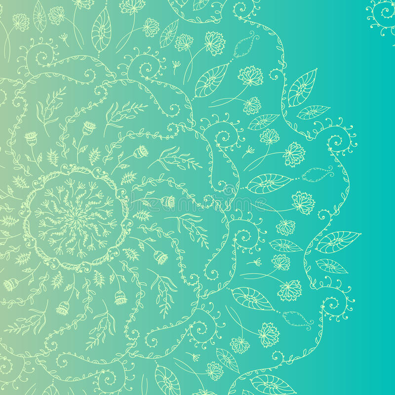 White circle lace ornament. Vector illustration, ornamental background stock images