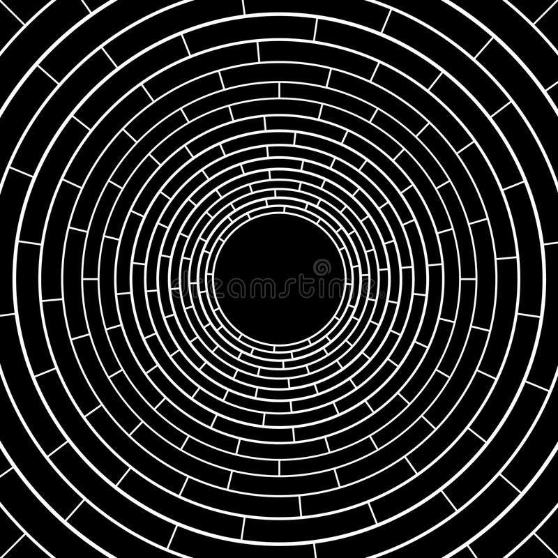 White circle line abstract pattern on black vector background design . vector illustration