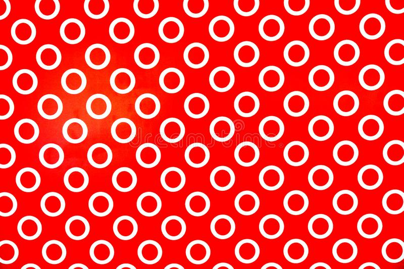 White circle on red background.pattern for backdrop royalty free stock images
