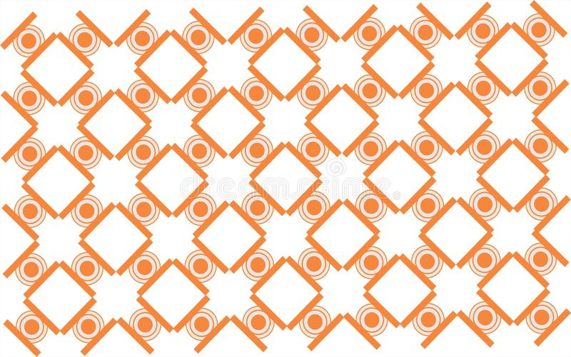 White circle squere combination geometrical shape repetitive local ethnic pattern background. White circle squere combination geometric repetitive background vector illustration