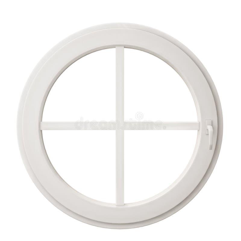 White circle window frame isolated on white background royalty free stock photo