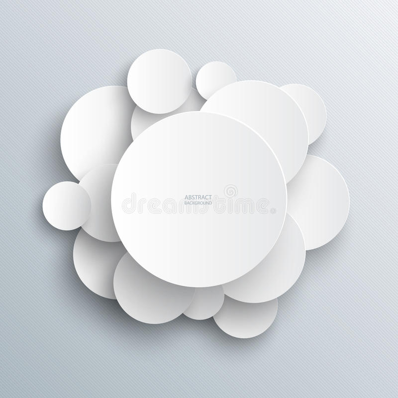 White circles infographic abstract background stock illustration
