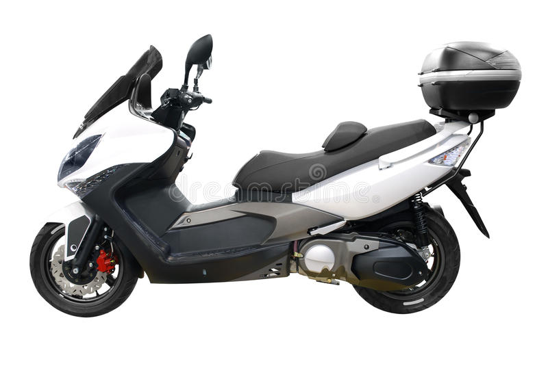 White city scooter with trunk royalty free stock images