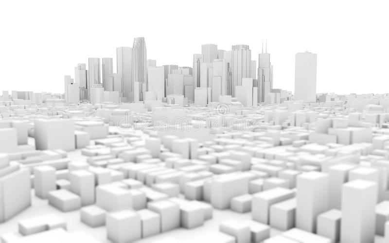 white city skyline stock illustration
