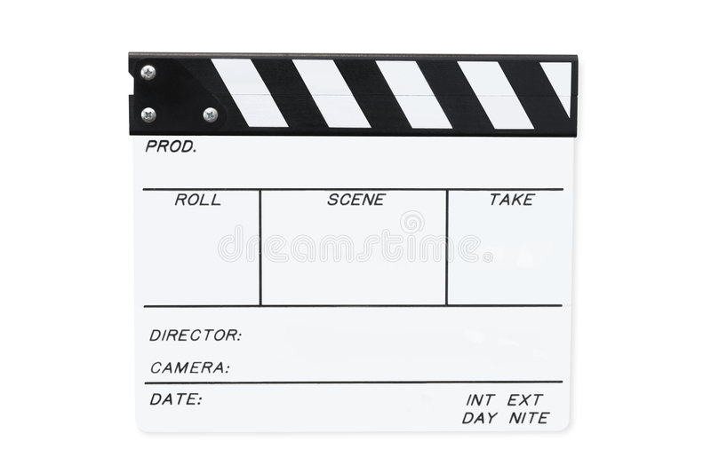 Download White Clapperboard (with Path) Stock Image - Image: 6672671