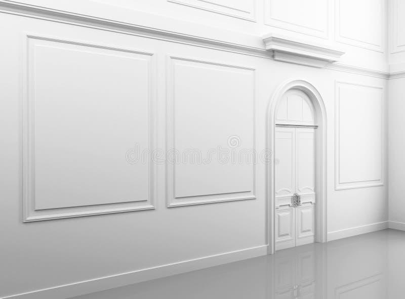 White Classical Empty Interior Stock Photos