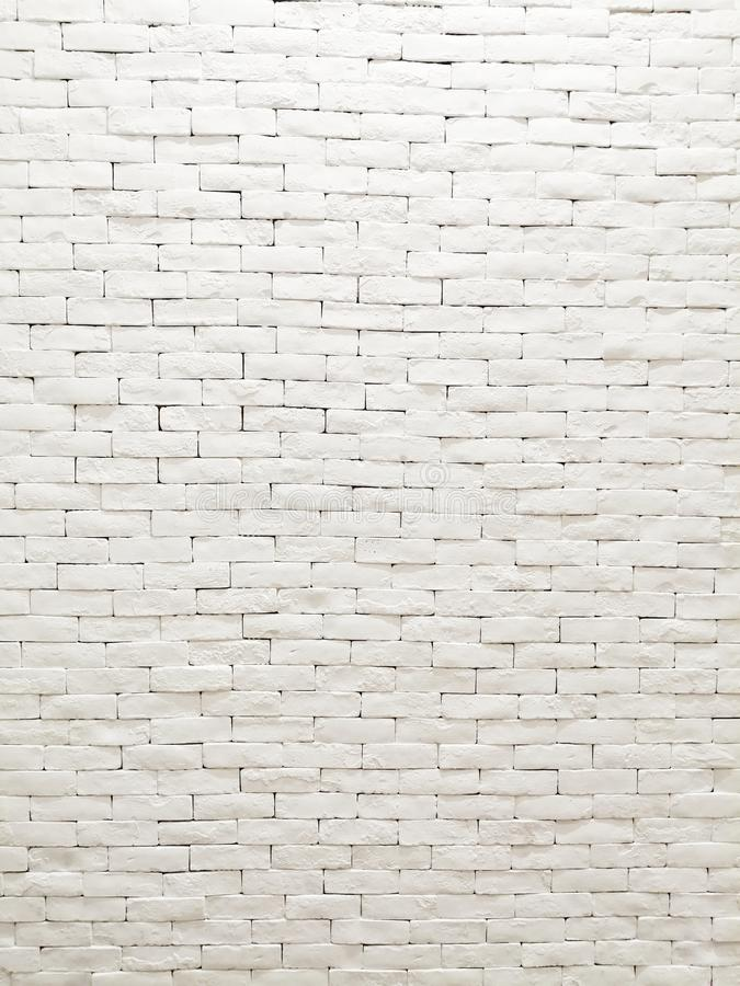White clay brick wall facade interior design for pattern wallpaper, background and backdrop. royalty free stock image
