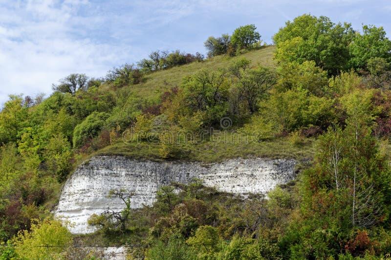 Vexin Français Regional Nature Park. White cliff of the coteaux de la  Seine river nature reseve royalty free stock photos
