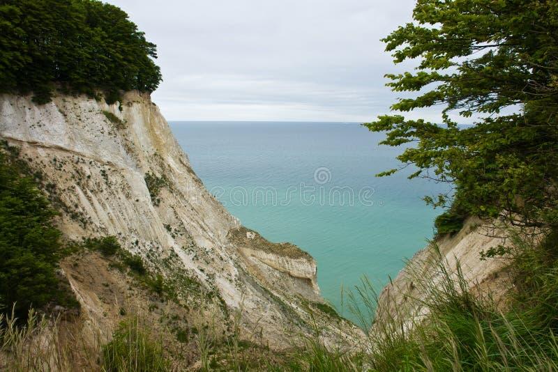 The White Cliffs of Moen in Denmark royalty free stock photo