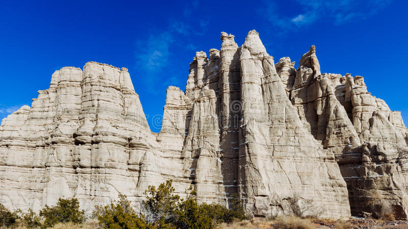 White Cliffs of Northern New Mexico stock photography