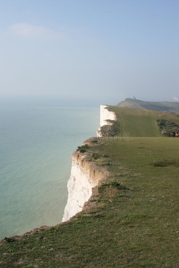 White cliffs & Sea stock image
