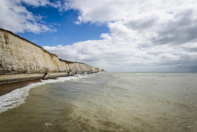 White Cliffs and seashore, Brighton, East Sussex, England, UK. Landscape with White Cliffs and seashore, Brighton, East Sussex, England, UK royalty free stock photos