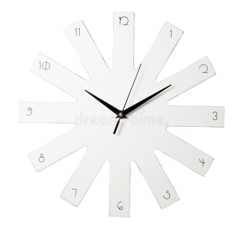 Download White clock stock image. Image of timer, three, background - 26442485