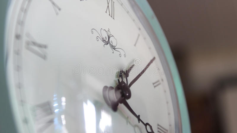 White clock royalty free stock photo
