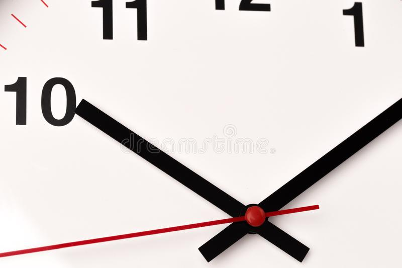 White clock, close up view stock images