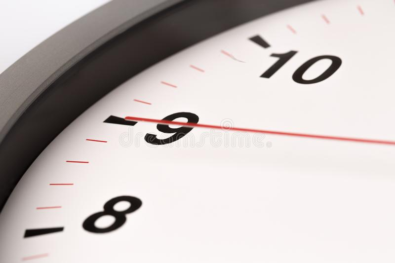 White clock, close up view royalty free stock photos