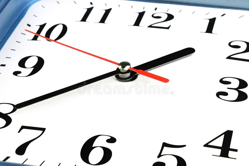 White Clock Face. Time concept. Macro image. Photo stock image
