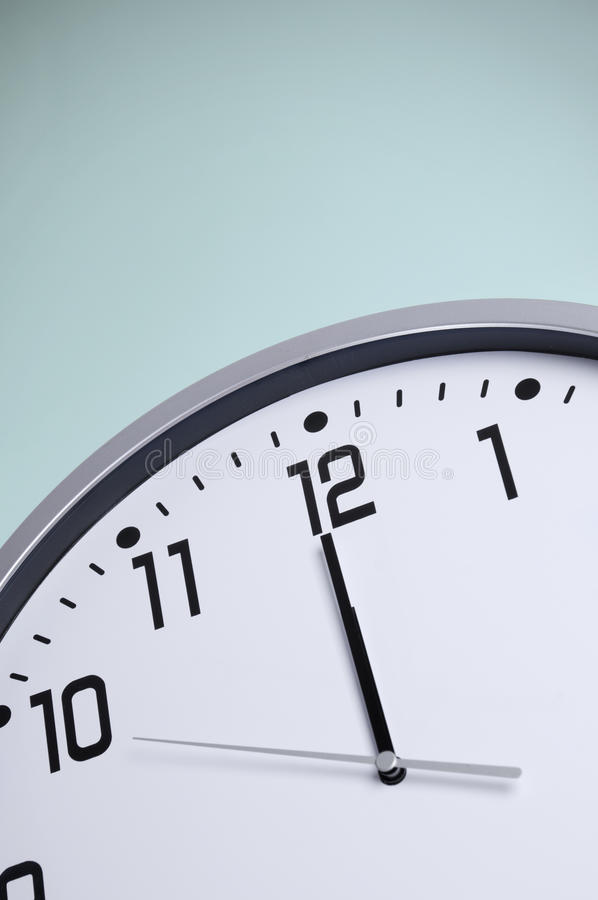 Download White Clock Before Midnight Stock Image - Image: 20695945