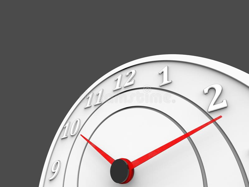 White clock with red dials - time passing concept vector illustration