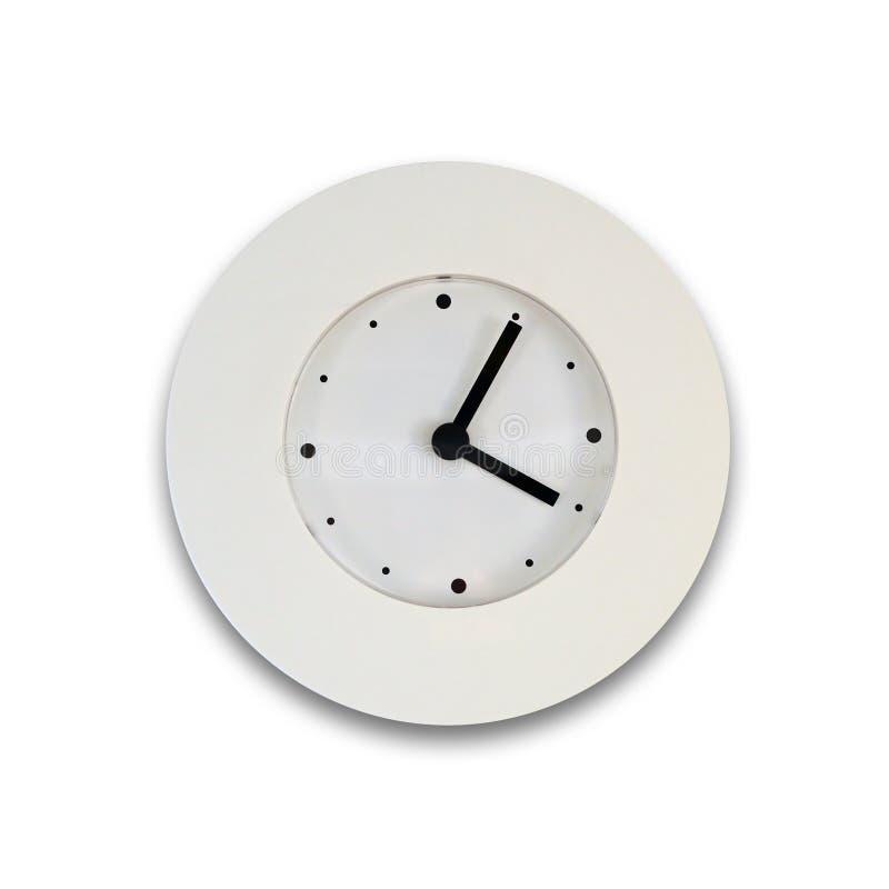 White clock royalty free stock photo