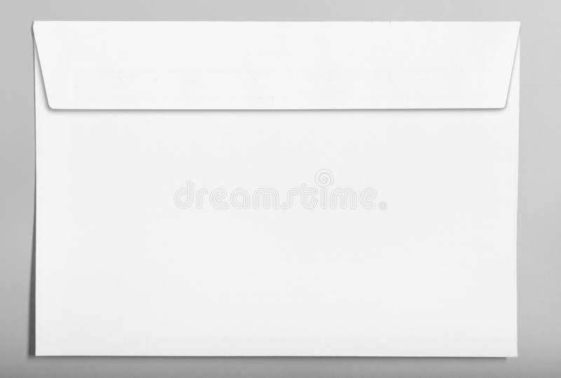White closed blank envelope isolated on grey background stock illustration