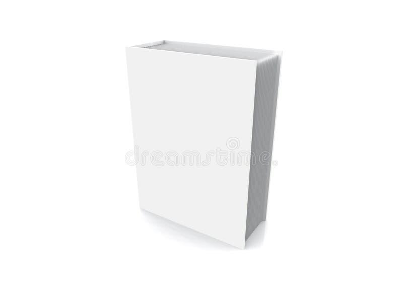 White closed book vector illustration