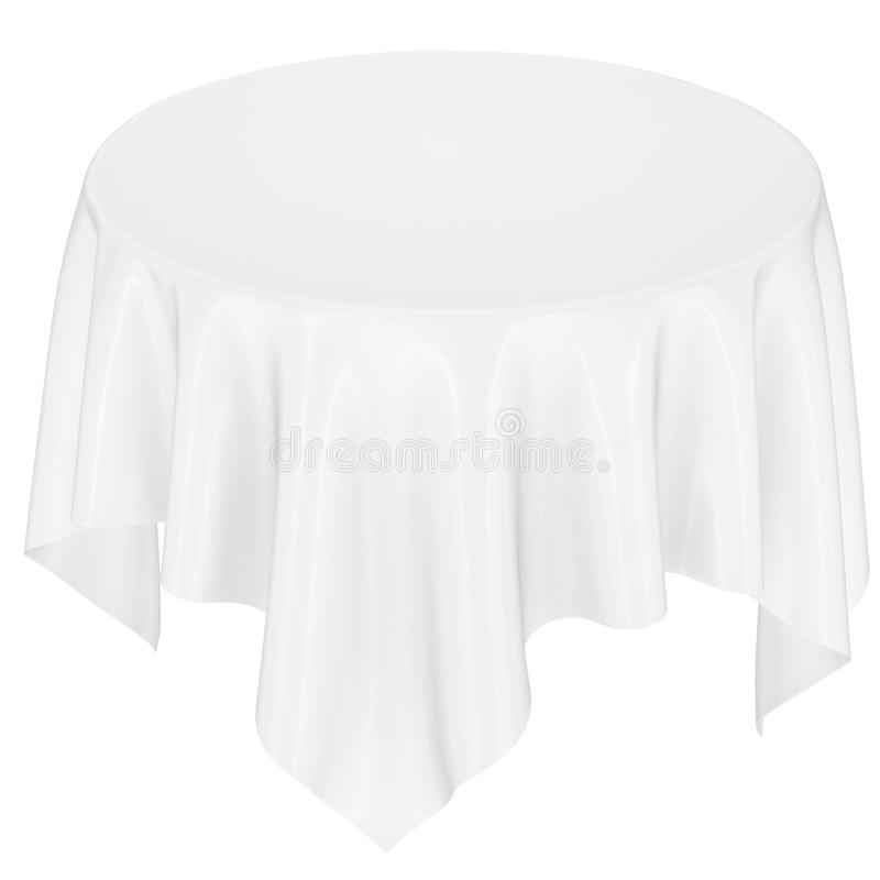 White cloth on the table. Image isolated royalty free stock photography