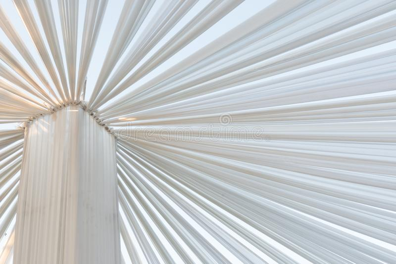 White cloth tent for an outdoor event stock image