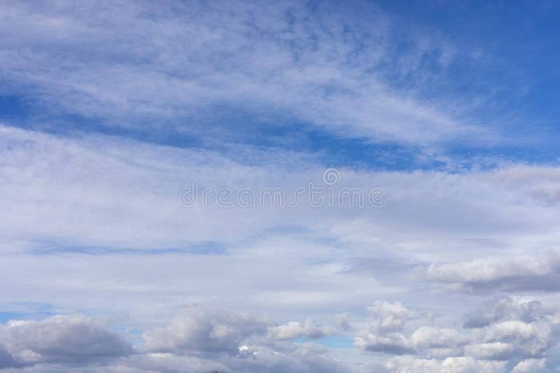 White cloud and beautiful blue sky royalty free stock image