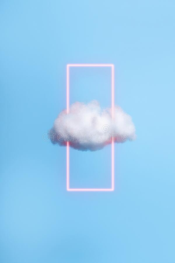 Free White Cloud Against Blue Color Background Royalty Free Stock Images - 193692039
