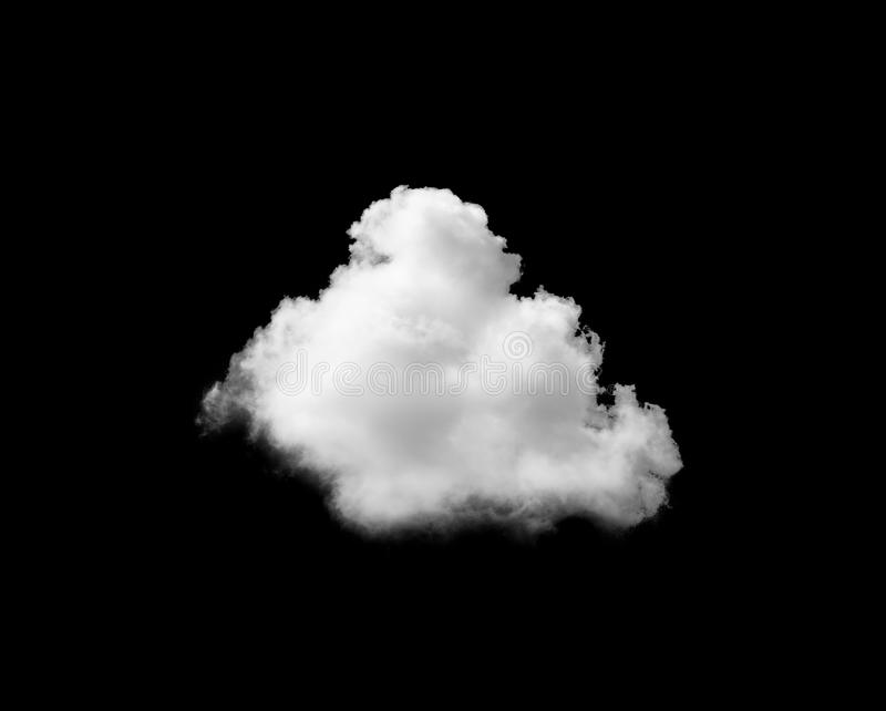 White cloud on black background stock image