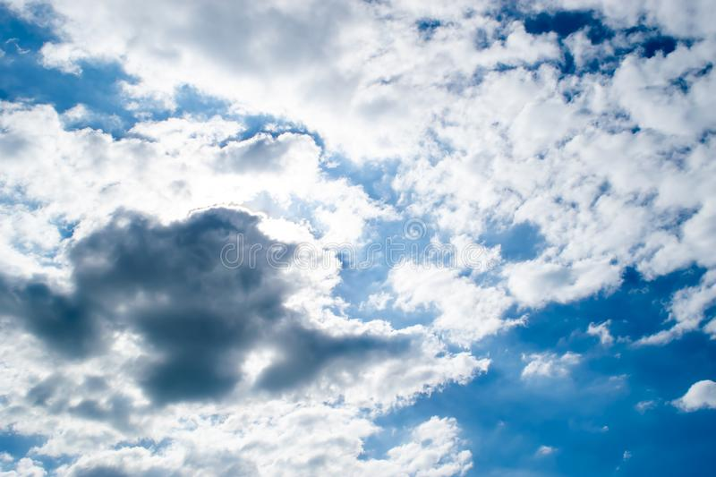 White Cloud and black Cloud, Blue Sky pictures background and texture stock photos
