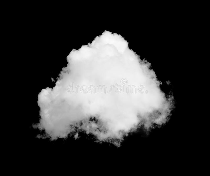 White cloud on black stock image