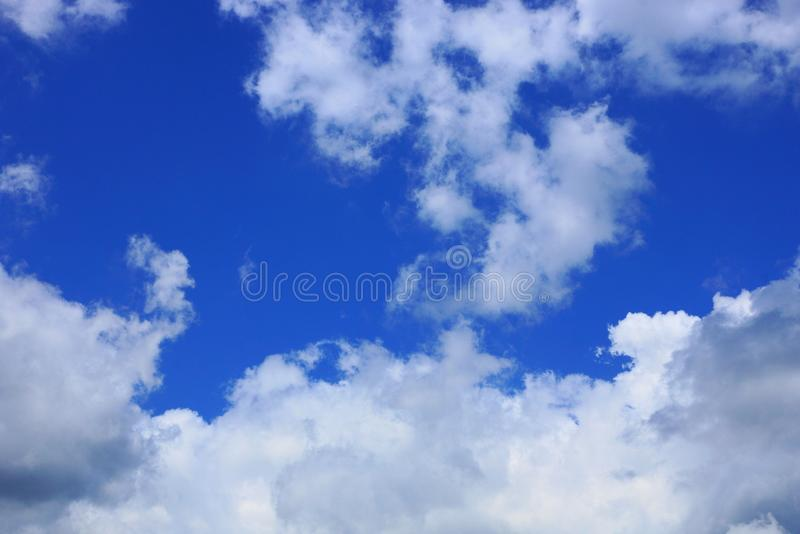 White cloud on blue day sky. Big white cloud on blue day sky royalty free stock images