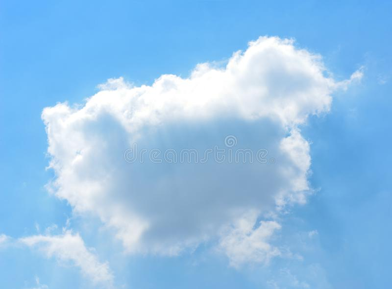 White cloud in the blue sky. White cloud on the blue sky royalty free stock images