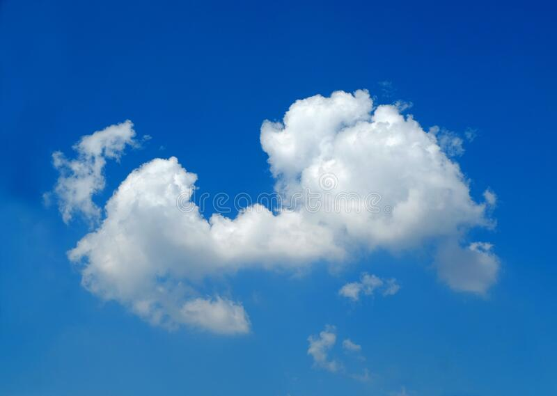White cloud and blue sky.  royalty free stock image