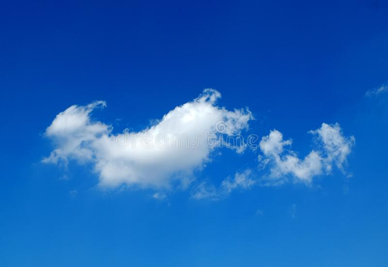 White cloud and blue sky.  stock photo