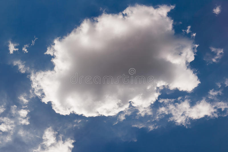 White cloud royalty free stock image