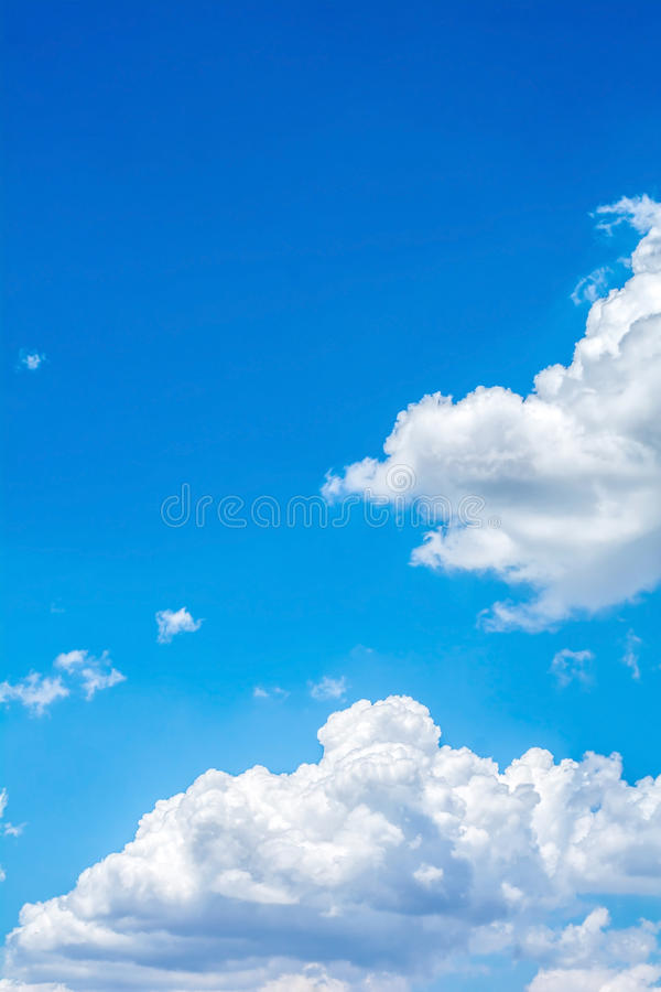 White cloud with the blue sky. Abstract white cloud with the blue sky stock image