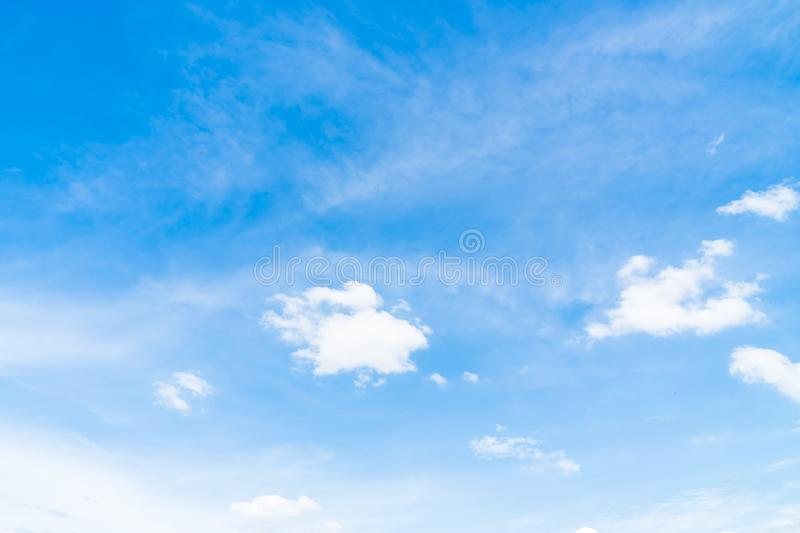 White cloud on blue sky. Beautiful white cloud on blue sky background royalty free stock photos