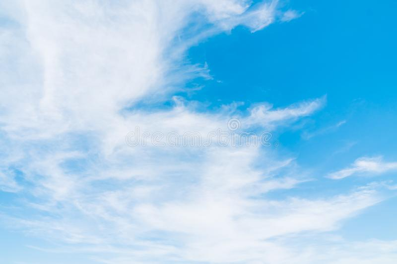 White cloud on blue sky. Beautiful white cloud on blue sky background royalty free stock images