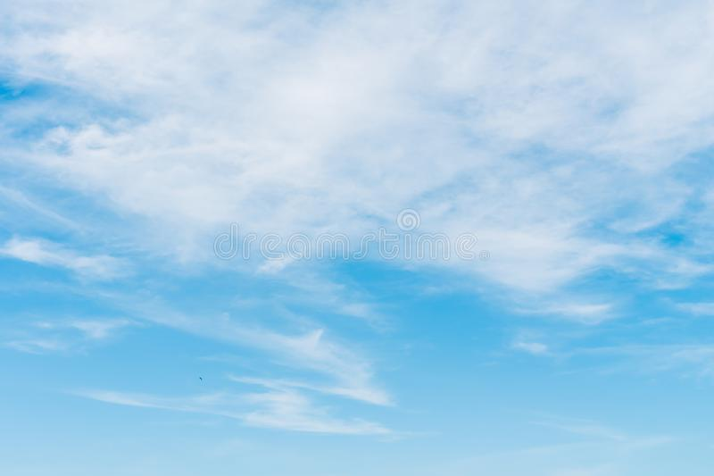 White cloud on blue sky. Beautiful white cloud on blue sky background royalty free stock photo
