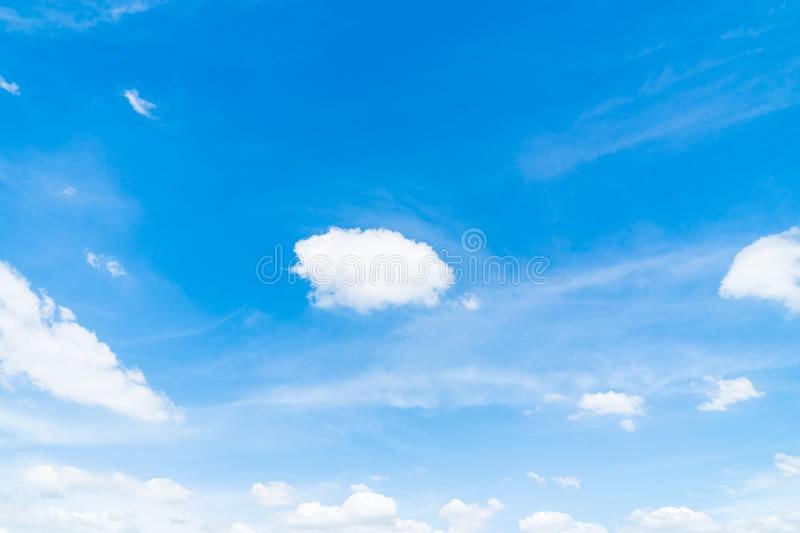 White cloud on blue sky. Beautiful white cloud on blue sky background stock photography