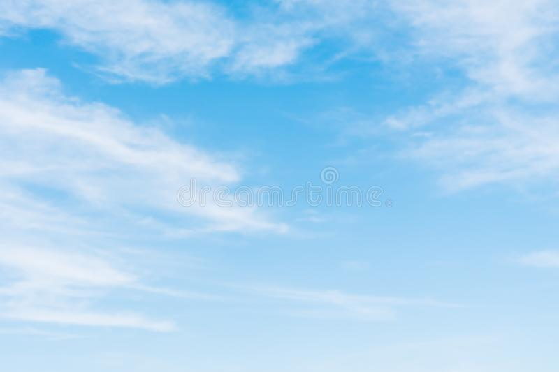 White cloud on blue sky. Beautiful white cloud on blue sky background stock photo