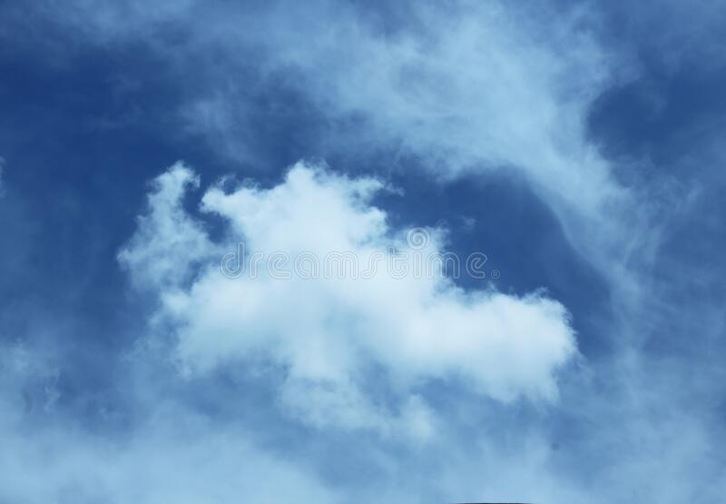 White cloud in blue sky. Beautiful landscape of white cloud on the blue sky for wallpaper or background stock photo