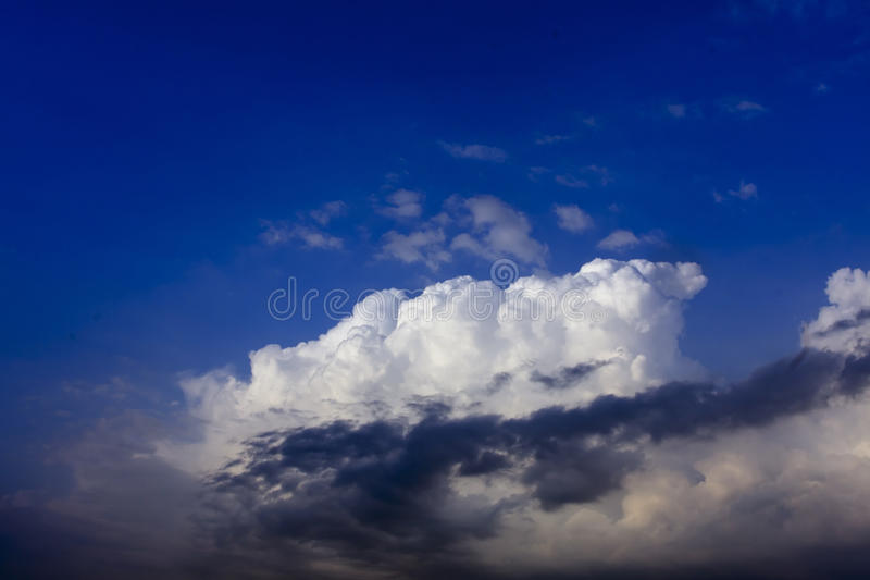 Download White Cloud On Blue Sky With Cloud In Front Stock Image - Image: 26413225
