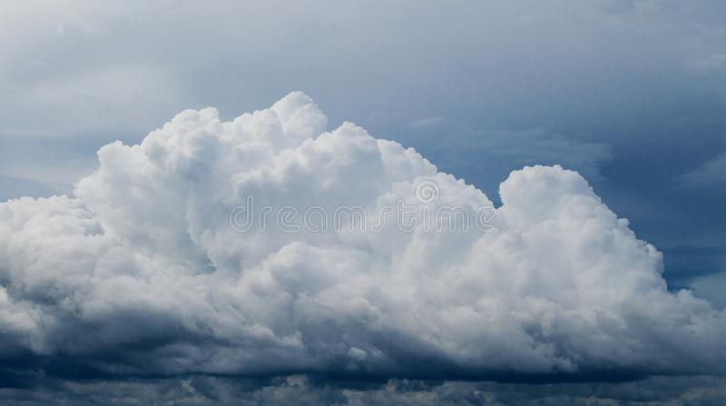 White cloud on blue sky. Cloudscape photo background. stock photography