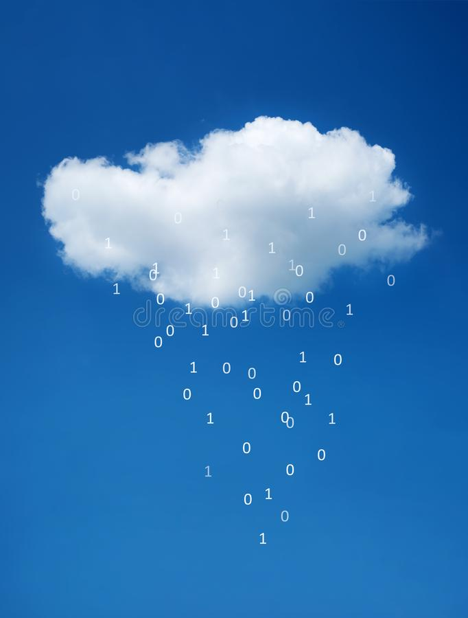 White cloud on blue sky. The concept of cloud technologies. royalty free stock image