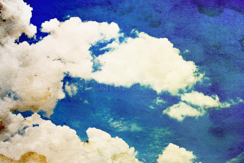 White cloud and blue sky stock illustration