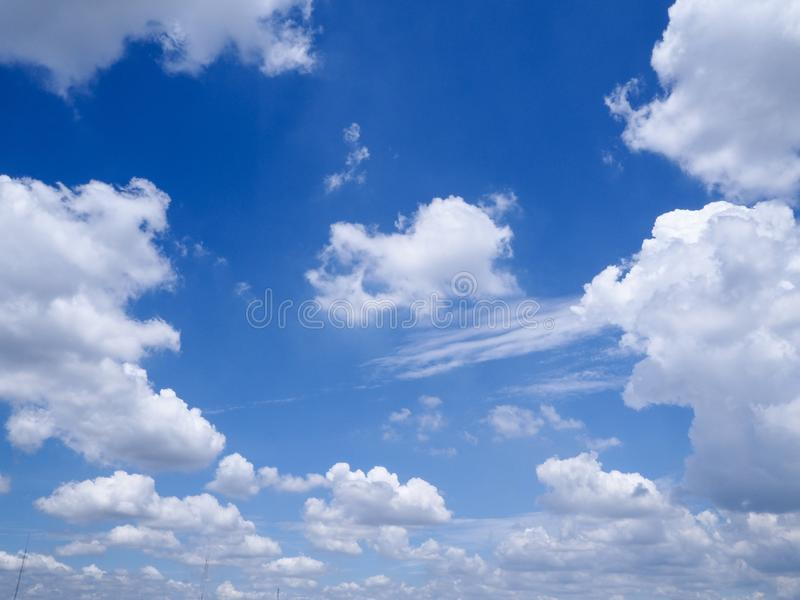 White cloud in the blue sky royalty free stock photography